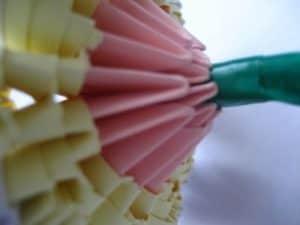 Цветок оригами стебель